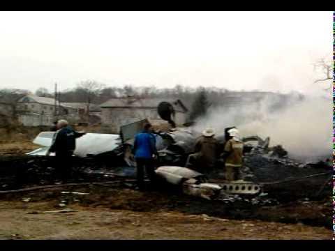 Упал военый самолет в пос.Соловей ключ