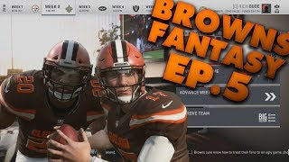 Josh Allen Throws For 300+ Yards! Fantasy Draft Browns Franchise! Madden 19 Browns Franchise Ep.5