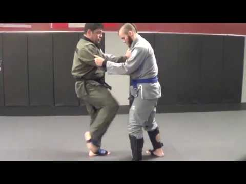 Karate Go Jiu-jitsu Technique #2 MMA Knee Strike to Judo Throw to Armbar!
