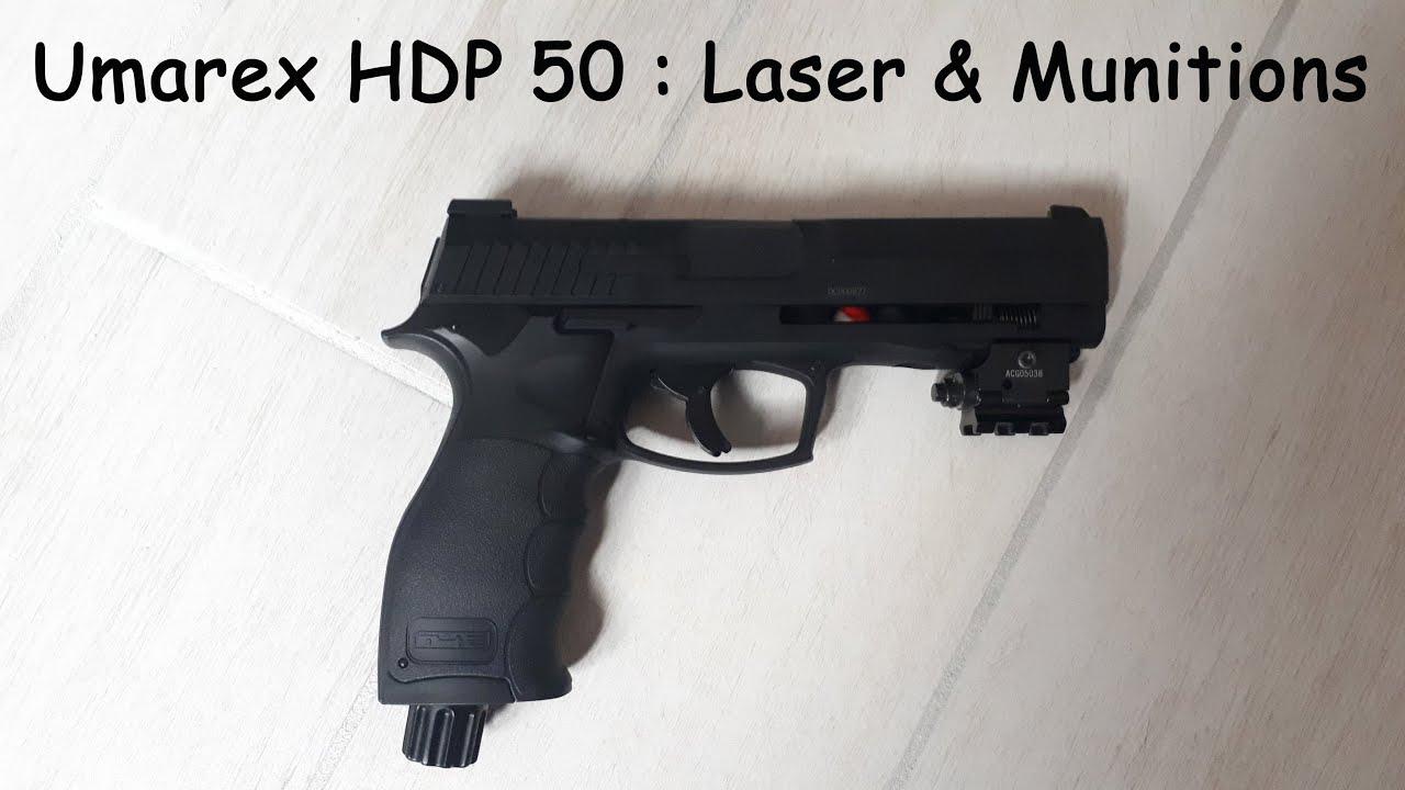 Umarex HDP 50 : Laser & Munitions