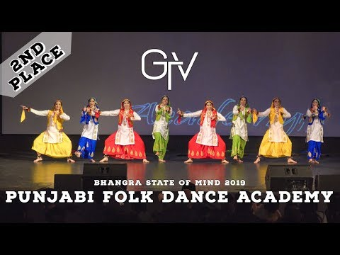 Punjabi Folk Dance Academy – Second Place – Bhangra State of Mind 2019