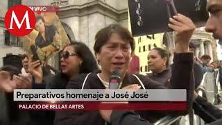 Fans esperan los restos de José José