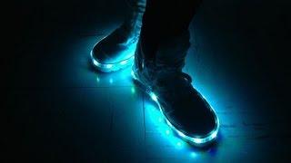 как сделать светящиеся кроссовки своими руками/ glowing shoes with their hands