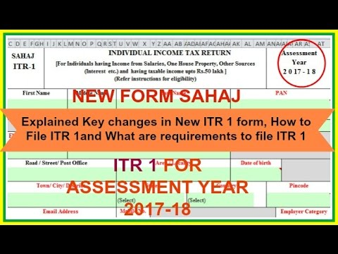 How to file income tax return online for salaried persons for FY 2016-17  and AY 2017-18 *New ITR1*