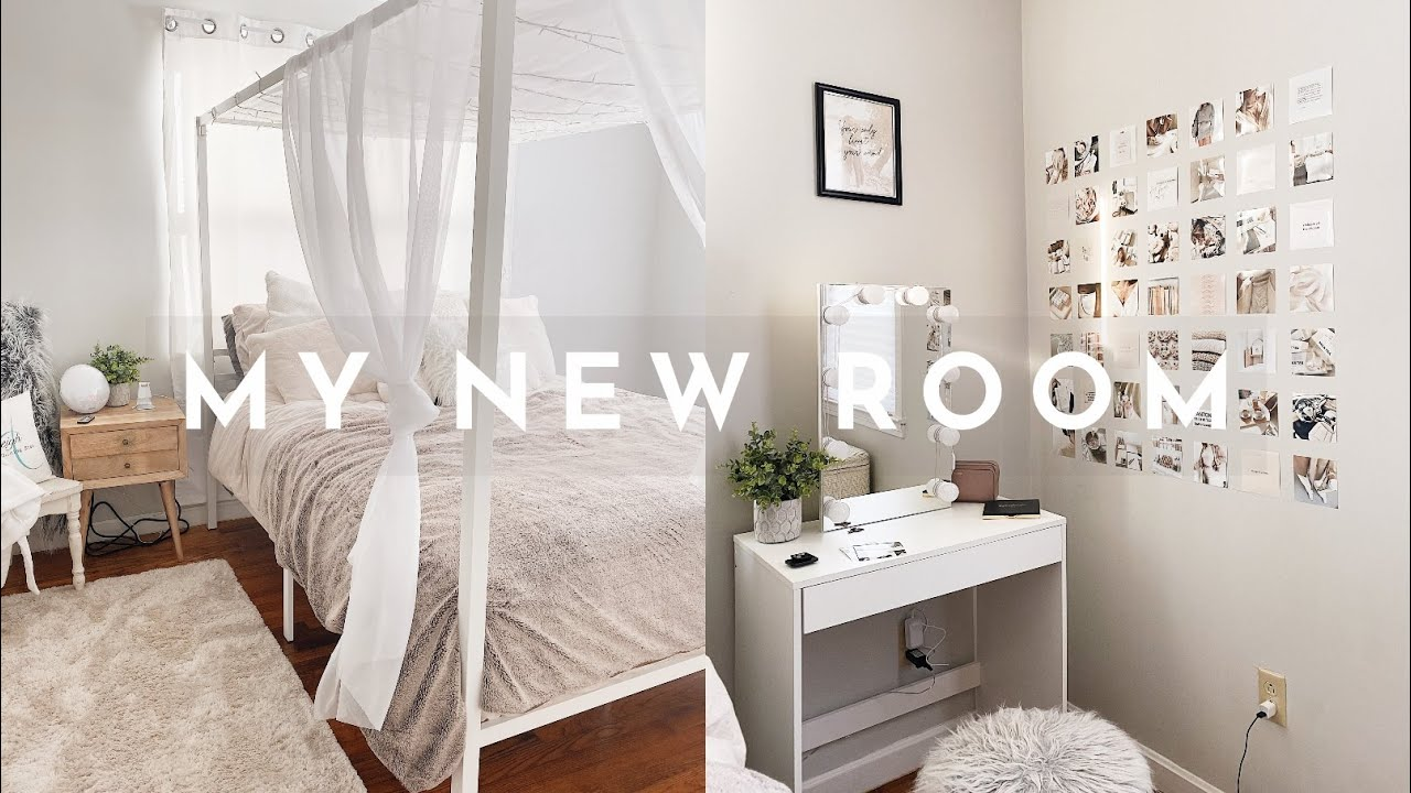 Extreme Bedroom Makeover Aesthetic Bedroom Transformation Youtube