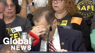 U.S. Congressman Jerry Nadler appears to pass out in New York thumbnail