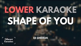 Ed Sheeran - Shape of You (LOWER Key Karaoke)