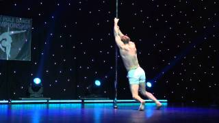 Alex Shchukin - Showcase - Greek Pole Dance Championship 2015 by RAD Polewear