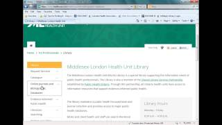 Accessing the Virtual Library