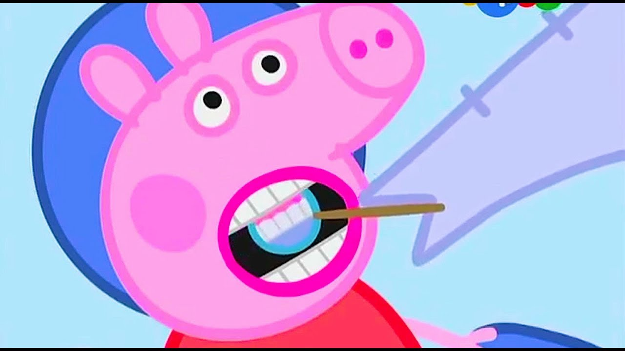 Свинка Пеппа - Джордж и Пэппа идут к стоматологу и игрушка ...