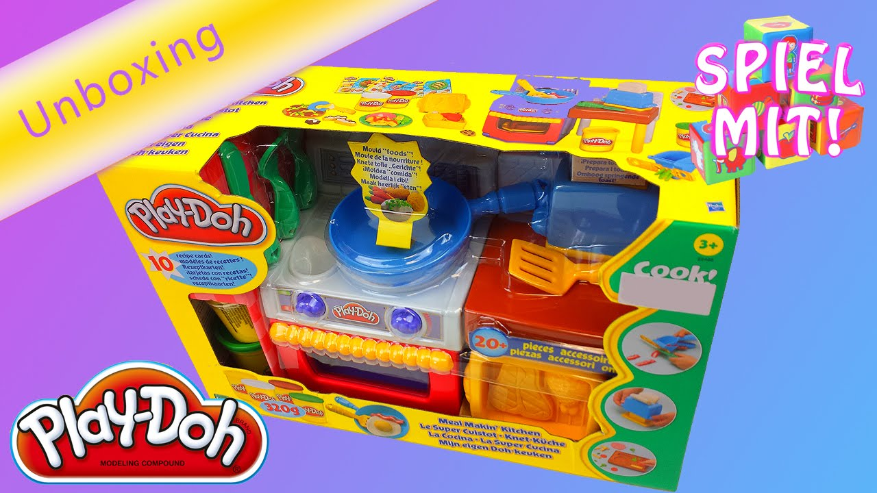 Play Doh Knet Küche Play Doh Küche Deutsch Toast Mit Knete Machen Unboxing Meal Makin Kitchen