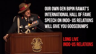 Gen Bipin Rawat's This Speech On Indo- US Relationship Will Fill You With Pride And Goosebumps