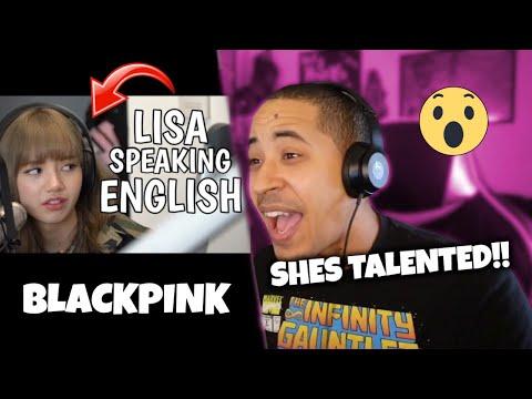 BLACKPINK Lisa Speaking English (REACTION)