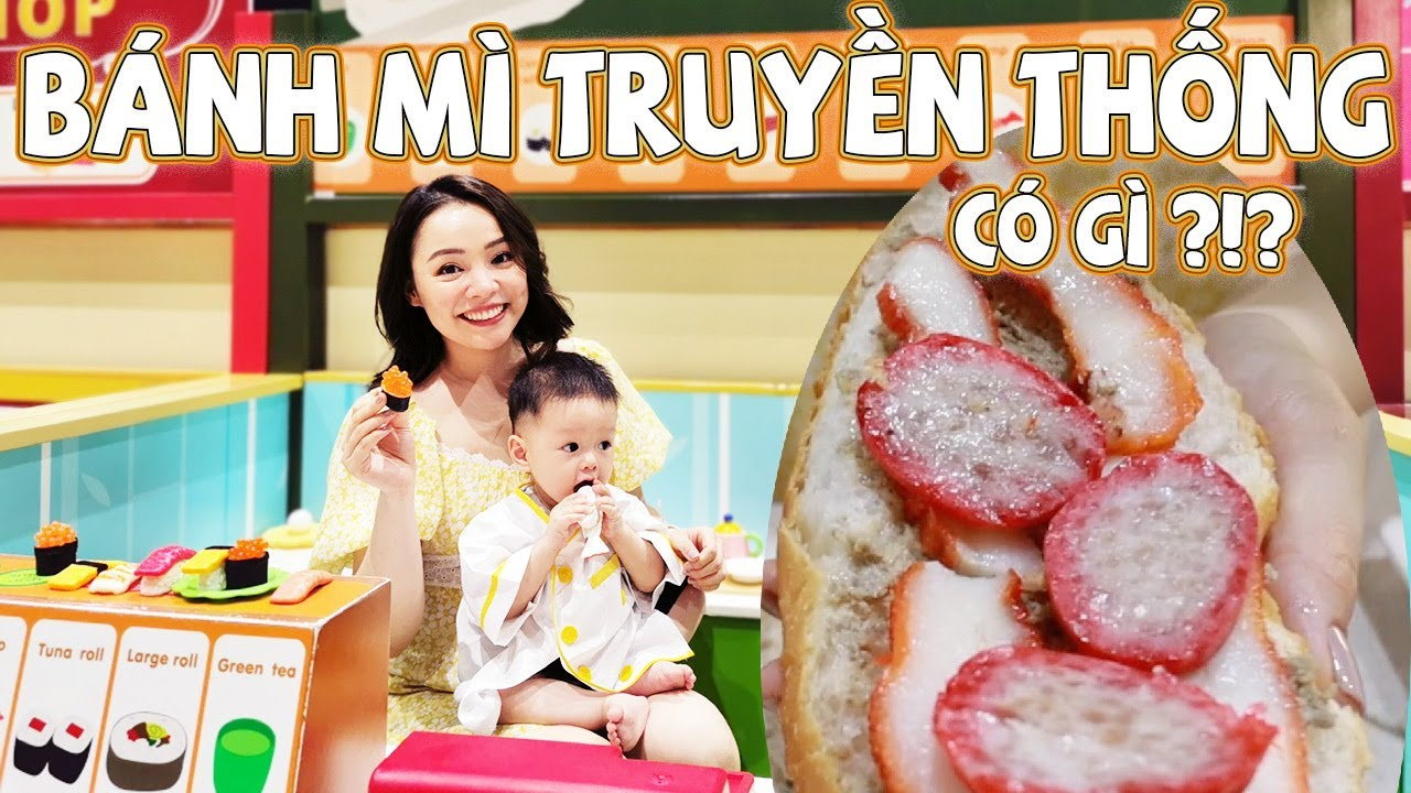 Ăn Thử Lại Bánh Mì Pate Truyền Thống 😋 Đưa Bơ Đi AEON Mall Chơi ❤️ TrinhPham Family