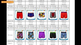 Men underwear boxer briefs catalogues for order production