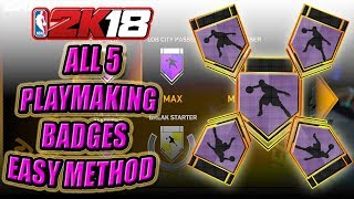FASTEST WAY TO TO GET ALL PLAYMAKING AND POINT FORWARD HALL OF FAME BADGES - NBA 2K18 BADGE TUTORIAL
