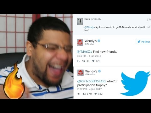 FIND NEW FRIENDS! Wendy's Roasting People On Twitter!