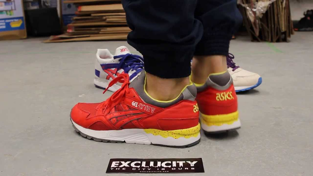 asics gel lyte v red and yellow