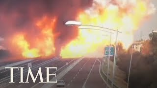 Massive Truck Explosion Causes Partial Bridge Collapse In Italy   TIME