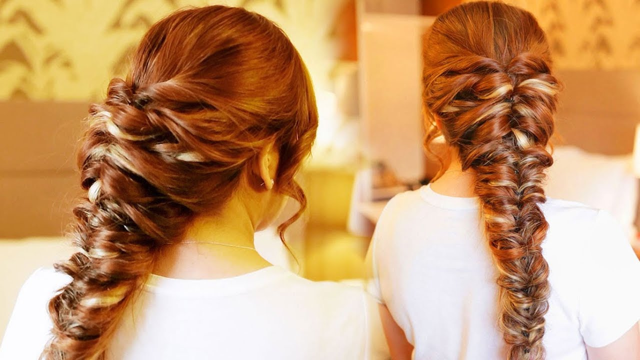 easy faux pancaked fishtail braid hair tutorial- holiday, prom