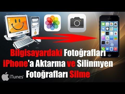 Bilgisayardan iPhone'a Fotoğraf Atma Ve...