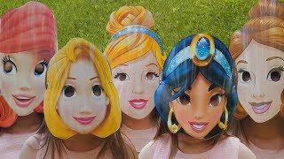 Yulya Pretend Disney Princess Magic turn into Ariel, Cinderella, Jasmine, Rapunzel and Belle