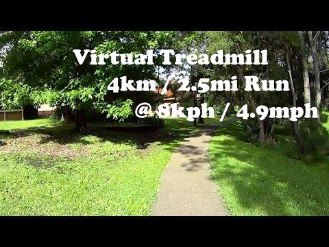 Virtual Treadmill 30 Minute Run 4km / 2.5mi @ 8kph / 4.9mph - Cordeaux Heights, NSW Australia