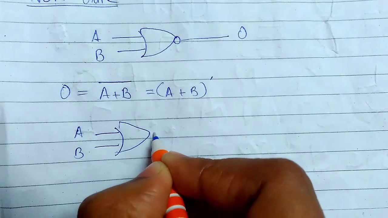 Nor Gate Nand Youtube Circuit Diagram