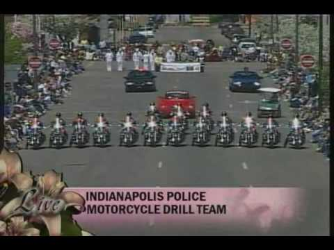 The Indianapolis Metropolitan Police Motorcycle Drill Team performs