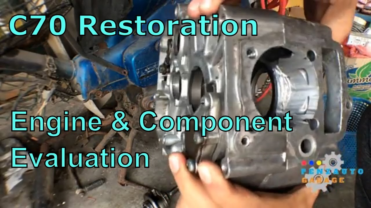 Restoring my 122cc Honda C70 Cub Part 2 - Engine Evaluation