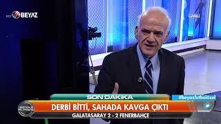 Galatasaray- Fenerbahçe derbisi sonrası saha karıştı! Yumruk, tekme, tokat