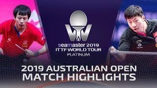 Ma Long vs Lin Gaoyuan | 2019 ITTF Australian Open Highlights (1/4)