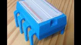 davinci 3d printed 8 pin microcontroller breadboard box video 005