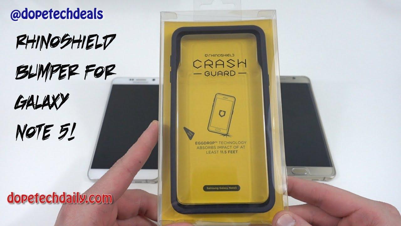 pick up 0f6e6 4f654 Best Samsung Galaxy Note 5 Bumper? RhinoShield Crash Guard!