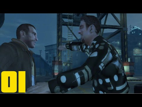 Grand Theft Auto 4 - Part 1 - Hello America (Let's Play Walkthrough W/Mods)