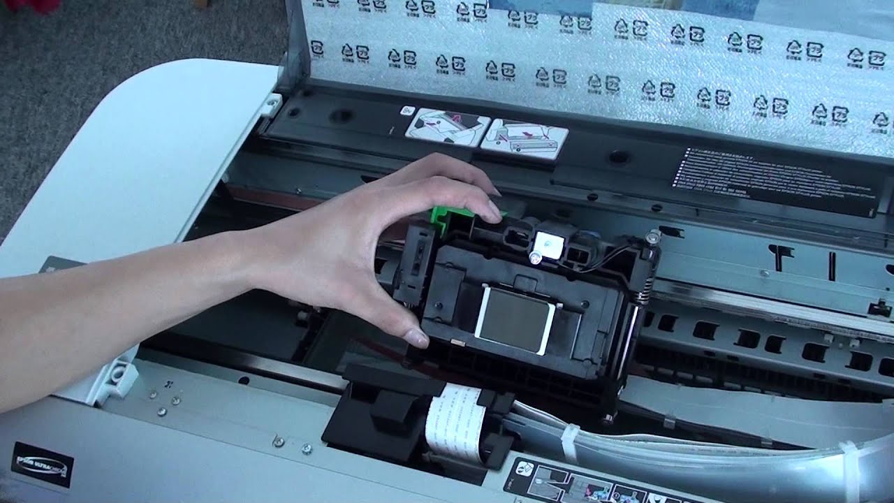 how to replace print head in 4880 epson printer youtube rh youtube com Epson 7600 Manual Epson 9880