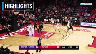 Download Mp3 Highlights: Mcconnell Scores 16 In Win | Stephen F Austin At Rutgers | Nov. 20,