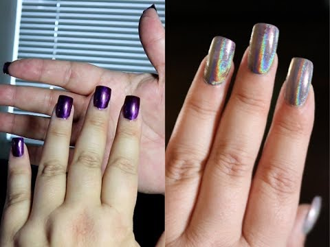 DIY Glue On False Nails -  Clear Full Coverage