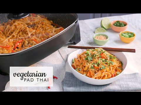 Elite Platinum 8Qt. Deep Dish Skillet - EG-6203 - Vegetarian Pad Thai Recipe