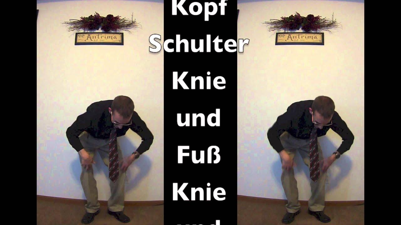 kopf schulter knie und fuss mit bewegungen head shoulders knees toes motions german