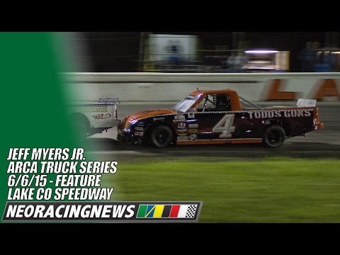 Jeff Myers Jr ARCA Truck Series Lincoln Welders 100 @ Lake County Speedway - 6/6/15