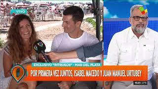 Por primera vez juntos, Isabel Macedo y Juan Manuel Urtubey
