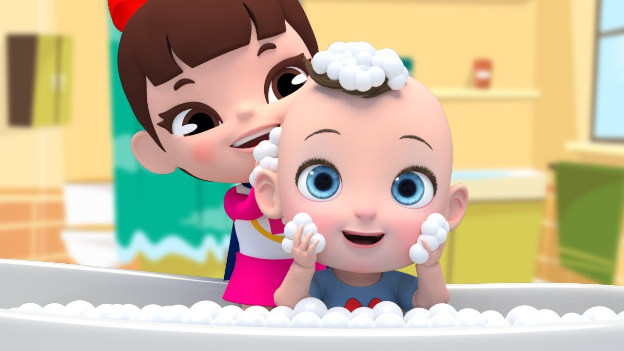 Learn Color with Bath Song 얼굴에 버블버블 거품을 묻히면서 놀아요~ 목욕송 영어동요 Nursery rhymes 라임이와 영어 공부 해요!