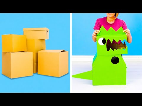 21 CARDBOARD CRAFTS THAT EVERYONE CAN EASILY MAKE