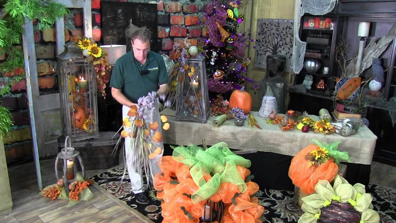 How to Decorate a Fall Lantern for your Home! - YouTube