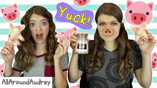 GIANT PASS THE PIGS GAME WITH PIGS FEET! / AllAroundAudrey