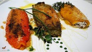 497 - Peperoni ripieni di ricotta..sfami un' intera flotta!(antipasto facile con verdure di stagione