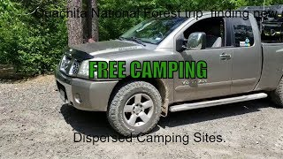 Dispersed free camping sites in arkansas national forest.- s1 E6