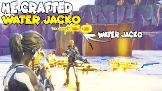 HE CAN CRAFT WATER JACK O LAUNCHERS 😱 Must Watch (Scammer Gets Scammed) Fortnite Save The World