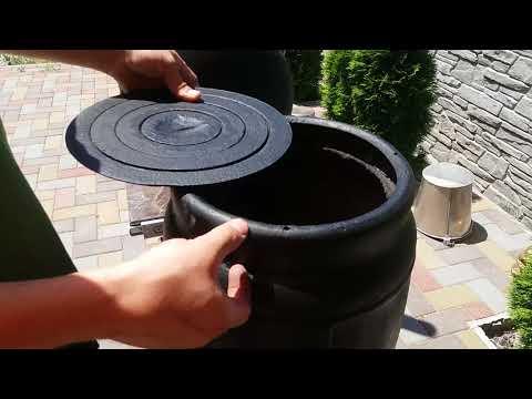 мангал (смокер) коптильня из газовых баллонов